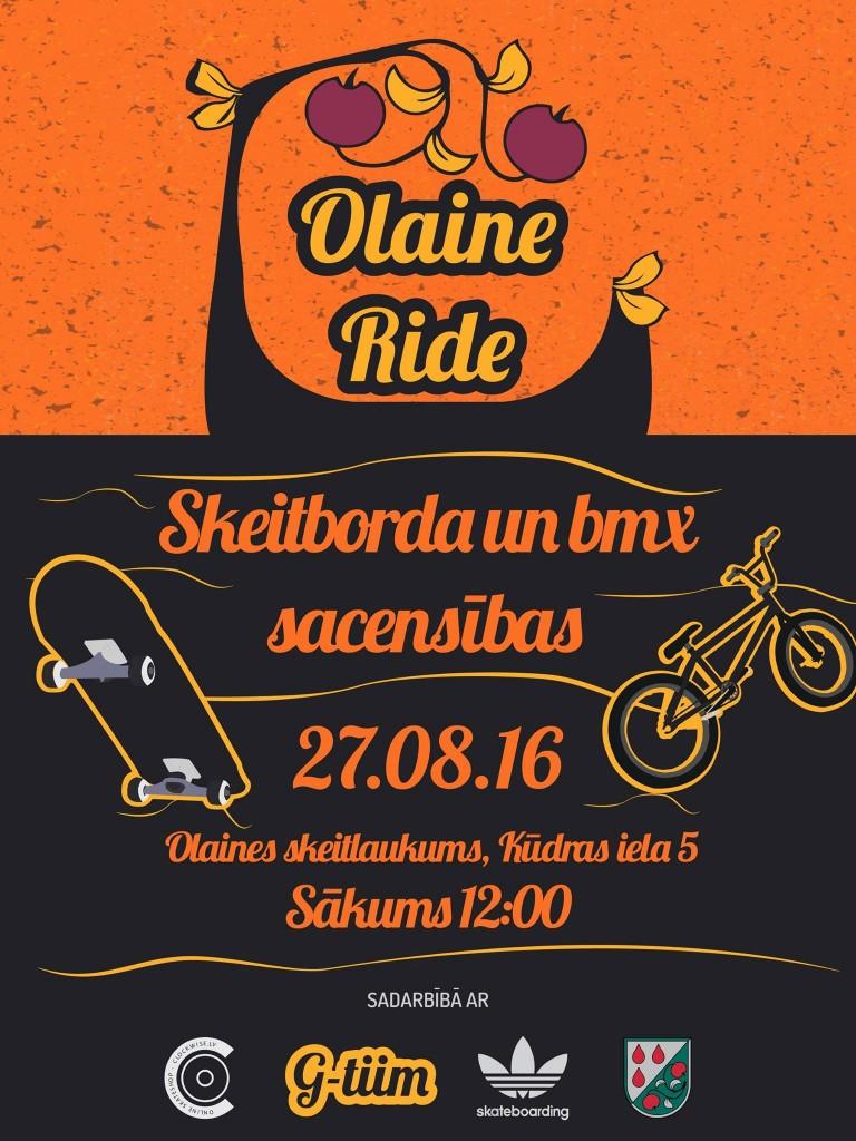 "27. augustā skeitborda sacensības ""Olaine Ride"""