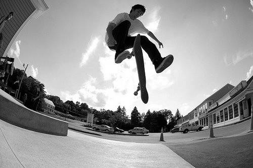 Skateboarding teaches you how to take a fall properly.