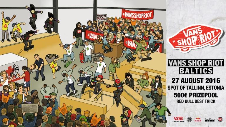 """""""VANS SHOP RIOT'16"""" Baltijas posms"""