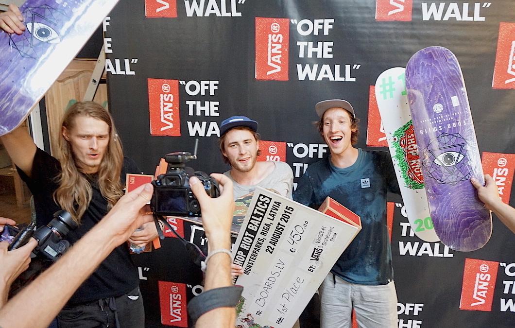 Vans Shop Riot Baltics uzvarētāji – Boards.lv