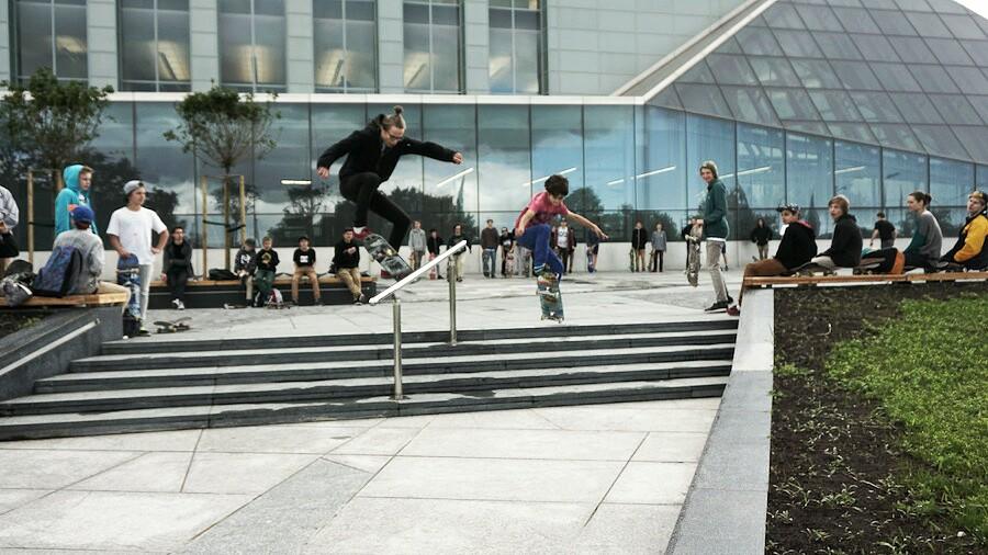 "Skeitbords Rīgas ielās ""Go Skateboarding Day"" ietvaros"